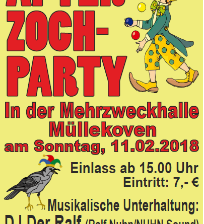 After-Zoch-Party in der Mehrzweckhalle