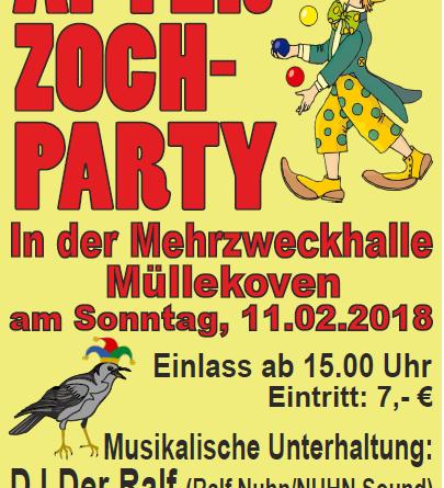After-Zoch-Party in der Mehrzweckhalle