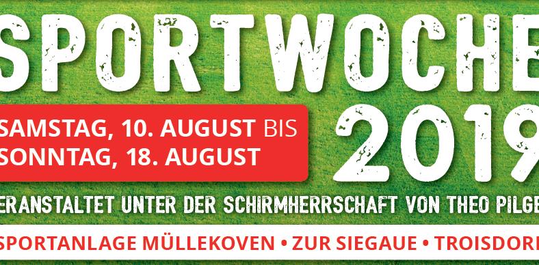 Turnierplan Sportwoche 2019