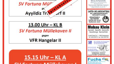 Nächster Heimspieltag der Fortuna: Sonntag der 24.10.2021